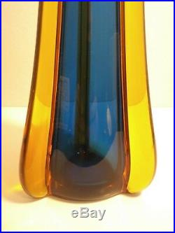 Flavio Poli Very Rare Murano Sommerso Vase Mid Century Modern