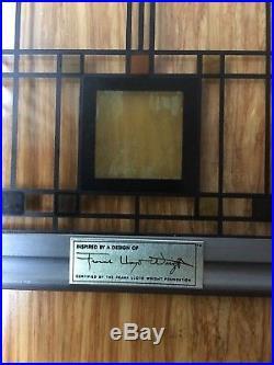 Frank Lloyd Wright Tree Of Light Stained Art Glass Panel Mid Century Modern