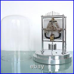 French BULLE Mantel CLOCK Very RARE 1948 CHROME Dome Translucent Mid Century TOP