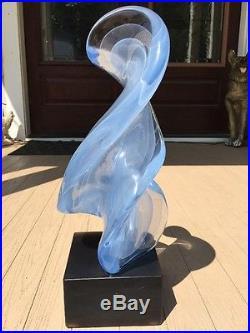 Full Signature Licio Zanetti Mid Century Modern Murano Italian Art Glass Large