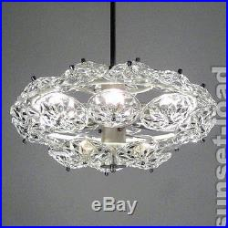 GLASS CRYSTAL CHANDELIER MEGA DESIGN MID CENTURY 60s Era Austrian Italian Style
