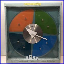 George Nelson Glass Petal Clock by Verichron Mid Century Modern Eames NIB