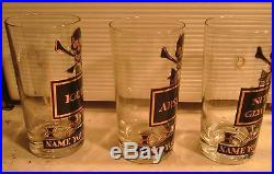Georges Briard NAME YOUR POISON Mid Century Modern Set 6 GLASSES TUMBLERS