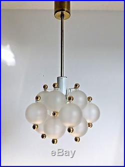 Glass Ball Chandelier Kinkeldey Mid Century Modern 1960s Kalmar ERA
