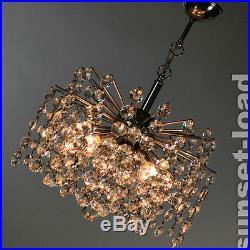 Glass Crystal Chandelier Sputnik Lamp Mid Century Austrian Bakalowits Lobmeyr