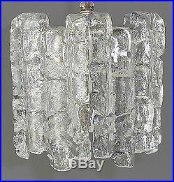 Great KALMAR AUSTRIA midcentury ice glass LAMP 60´s fontana arte kaiser doria