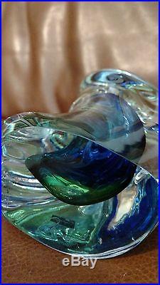 HUGE Svaja Biomorphic Glass Sculpture Mid Century Style 11