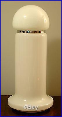 HUGE Vtg 60s/70s Mid Century MODERN Murano Glass/Chrome Gioffredo Reggiani LAMP