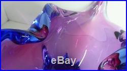 Heavy Free Form Murano Art Glass Bowl Beautiful MID Century Italian Design