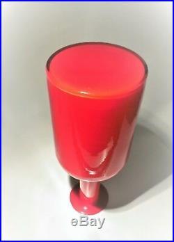 Holmegaard Otto Brauer Art Glass Gul Vase MID Century