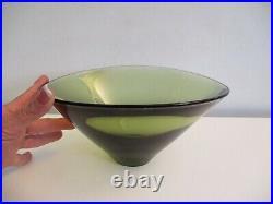 Holmegaard Per Lutken Art Glass Large Round Bowl Danish Mid-century Modern c1961
