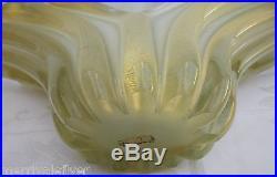 Huge! BARBINI MURANO Glass Vase Mid Century Modern GOLD Aventurine Italy vintage