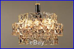 Huge Kinkeldey Glass Chandelier Modern Mid Century Design Vintage 1960's #2/4