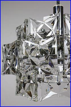 Huge Kinkeldey Glass Chandelier Modern Mid Century Design Vintage 1960's #3/4
