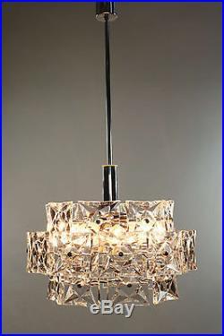 Huge Kinkeldey Glass Chandelier Modern Mid Century Design Vintage 1960's #4/4