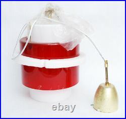 IKEA GARDSKAR / SILA Pendant Light Mid Century Modern Glass Lamp RED & WHITE