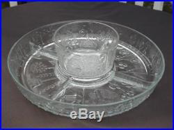 Iittala Flora Mid Century Modern Oiva Toikka Chip N Dip Platter Set 14 Wide EXC