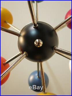Italian space age vintage sputnik chandelier mid century design multicolor