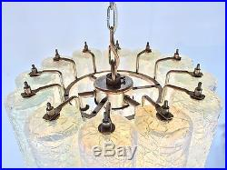 Italy Mid Century VENINI Murano Glass TONI ZUCCHERI Chandelier Lamp Era Mazzega