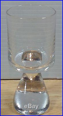 Joe Colombo Riedel Assimetrico Smoke Glass 4.25 Signed Mid Century Modernist