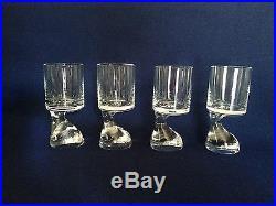 Joe Colombo Riedel Smoke Glass 6 Mid Century EUC