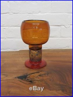 KAJ FRANCK Mid Century Modern ART GLASS Goblet Nuutajarvi ARABIA Finland nr #2