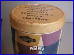 KAJ FRANCK Nuutajarvi Finland KARTIO 6 x Glass Red Glasses Set Boxed Mid Century