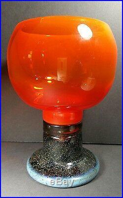 Kaj Franck Nuutajarvi 8.5 inch Goblet Glass Mid Century Modern mcm large