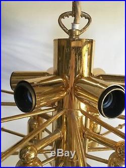Kalmar crystal glass chandelier pendant flush light mid century ceiling lamp