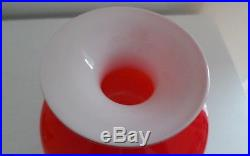 Kastrup Holmegaard, Mid Century Carnaby Cased Glass Bulge Short Vase