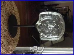 Kosta Boda Erik Hoglund Glass Face Sculpture Awesome Mid Century Modern Piece