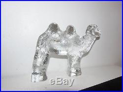 Kosta Boda Erik Hoglund Standing Camel Zoo Series Art Glass Sweden Mid Century Z