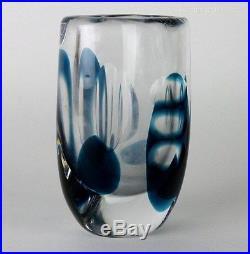 Kosta Boda Signed Vicke Lindstrand Mid Century Modern Swedish Art Glass Vase NR