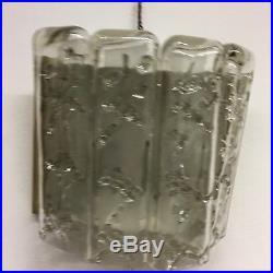 LA2/96 Beautiful Doria Mid Century Wall Lamp Sconce Glass Tubes Vintage German