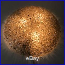 LARGE Mid-Century BAROVIER & TOSO Murano Glass CEILING LAMP Wall Light, Ø 75 cm