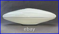 LARGE VTG UFO FLYING SAUCER Mid Century Modern POLE LIGHT LAMP SHADE DORIA