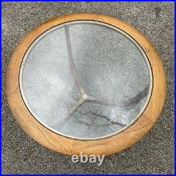 Lane Furniture 1044 Mid Century Adrian Pearsall Era Round Table With Glass