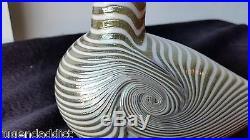 Larg MID Century Modern Ovia Toikka Nuutajarvi Finland Glass Bird Pate De Verre