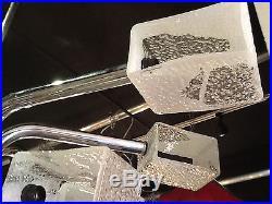 Large Italian Mid Century Modern 1970s Murano Glass Chandelier 1960s Original