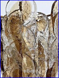 Large Kalmar Murano Glass Chandelier 1960s Mid Century Modern