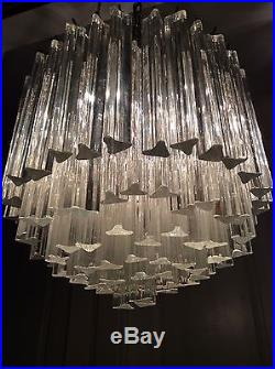 Large mid century vintage 1960s murano glass crystal chandelier large mid century vintage 1960s murano glass crystal chandelier modern chrome aloadofball Images