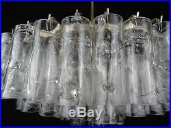 Large glass tube chandelier by DORIA vintage retro design lamp mid century light