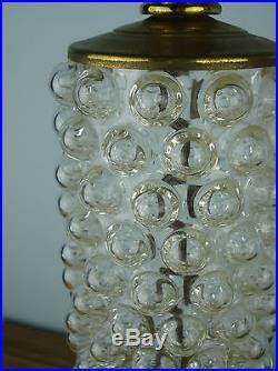MID CENTURY MODERN BUBBLE GLASS TABLE LAMPS HOLLYWOOD REGENCY, SHABBY HOME DECOR