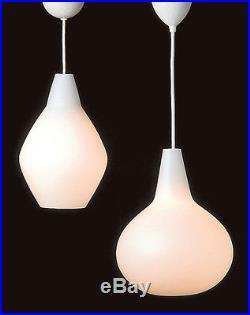 MID CENTURY MODERN FINLAND LISA JOHANSSON-PAPE 1950's BULBO GLASS PENDANT LAMP