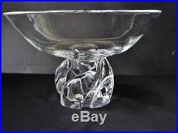 MID Century Steuben Art Glass Large Footed Pedestal Bowl Donald Pollard