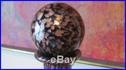 MID Century V. Nason Murano Black Amethyst Glass Avventurine Decanter