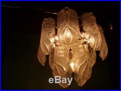 MID Century Carl Fagerlund Ceiling Lamp Chandelier Orrefors Ice Glass Murano