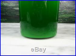 MID Century Kastrup Holmegaard Gulvase Green Opaque White Cased Glass Vase 10