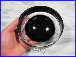 MID Century Modern Murano Cased Art Glass Inciso Bowl Black Vistosi Or Barbini