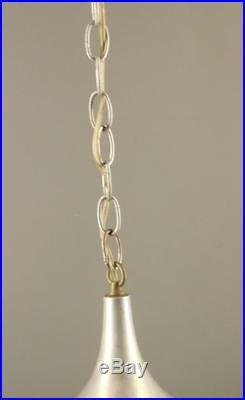 MID Century Modern Tulip Aluminum Caramel Slag Glass Light Fixture 14'' Wide